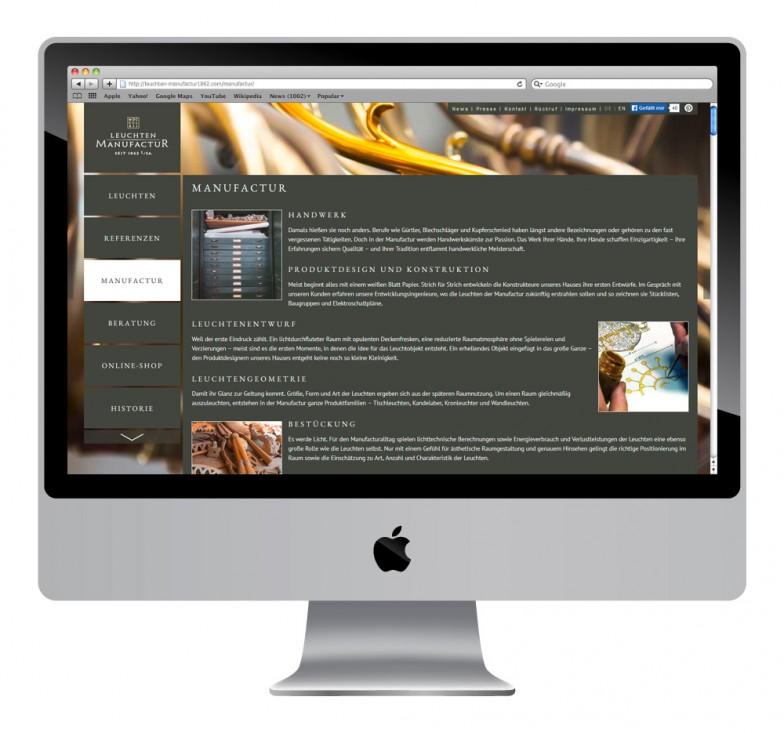 Leuchten Manufactur   Website