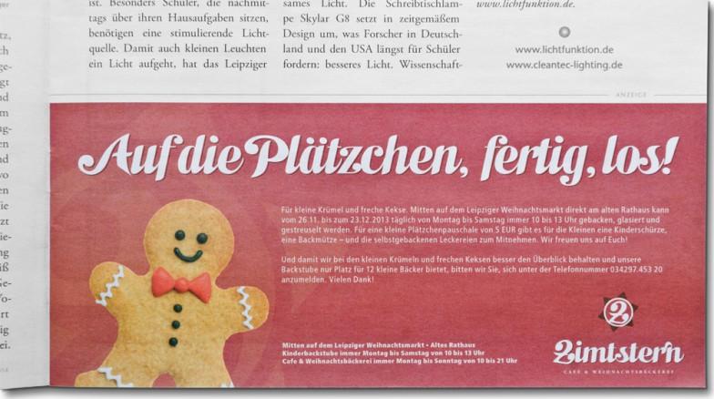 Konditorei & Bäckerei Wendl | Cafe Zimtstern | Anzeige Schlingel Magazin